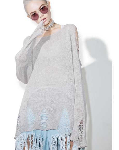 Day By Day Distressed Sweater