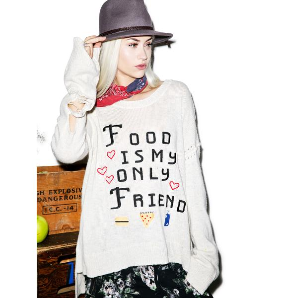 Wildfox Couture Food Is My Only Friend Venice Canal Sweater