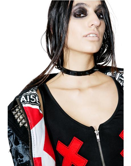 Death Wish Spiked Choker