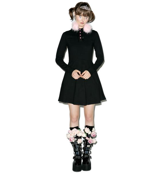 Lazy Oaf Heart Button Polo Dress