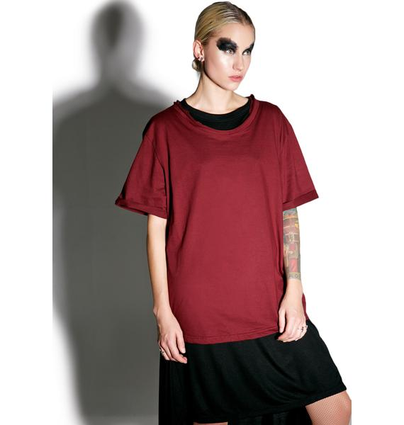 MNML Crimson Weaponized Zipper Back Tee