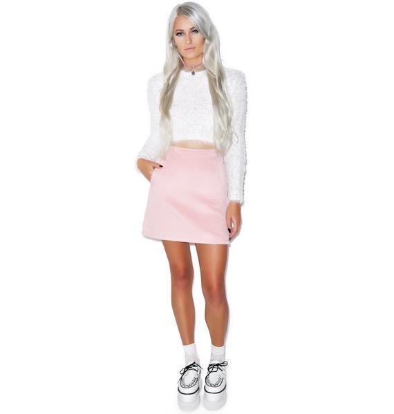 Motel Copper High Waisted Skirt