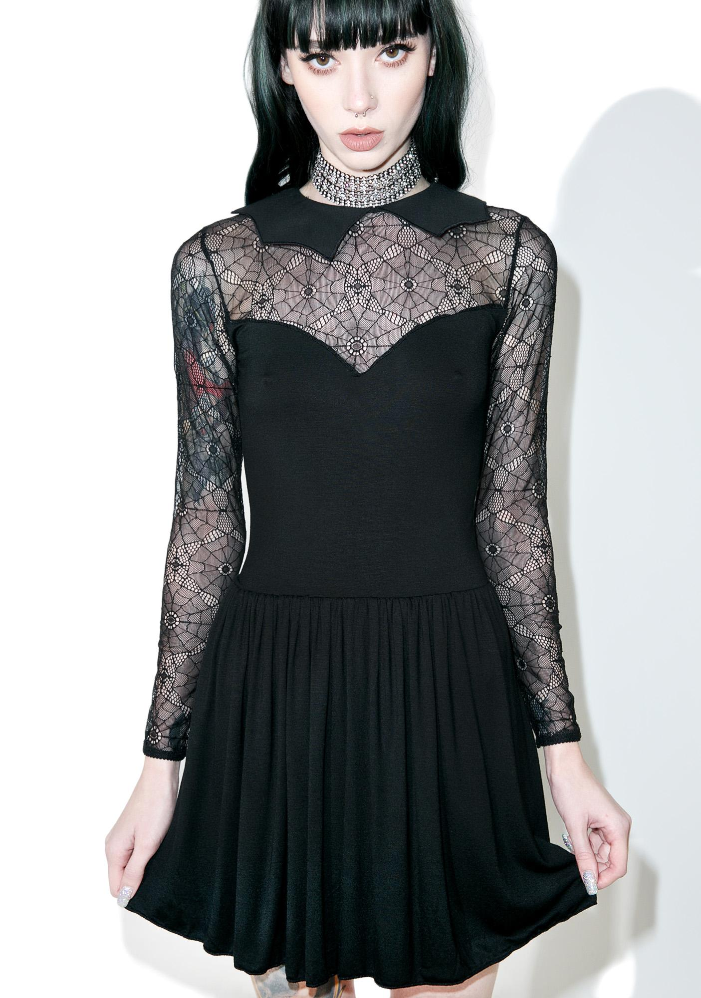 Current Mood Salvation Lace Skater Dress