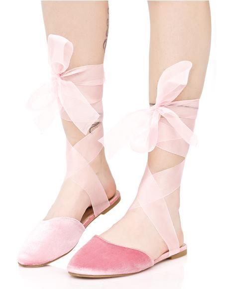 Romantic Celia Wrapped Flats