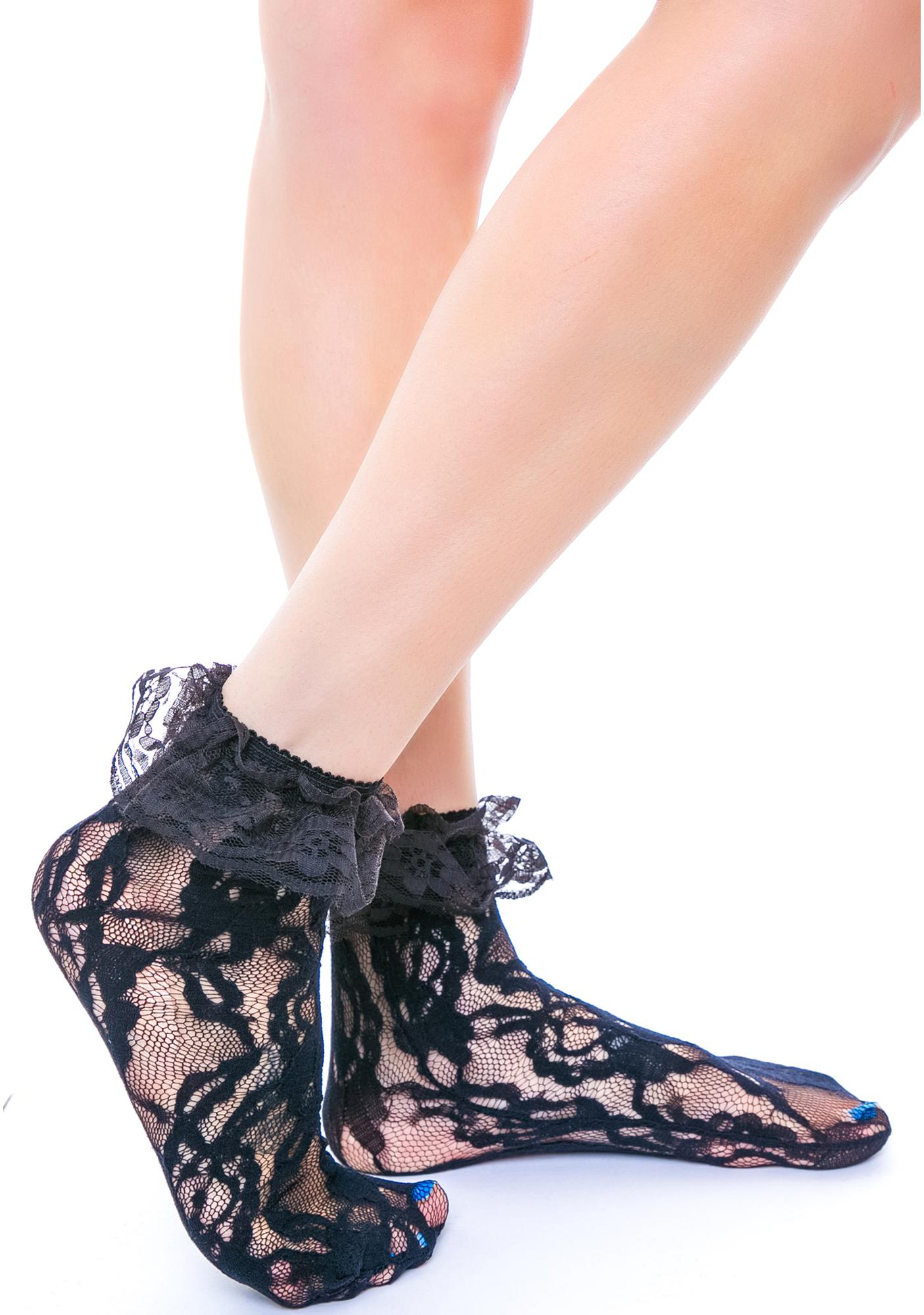 Lolita Lace Ruffle Ankle Socks