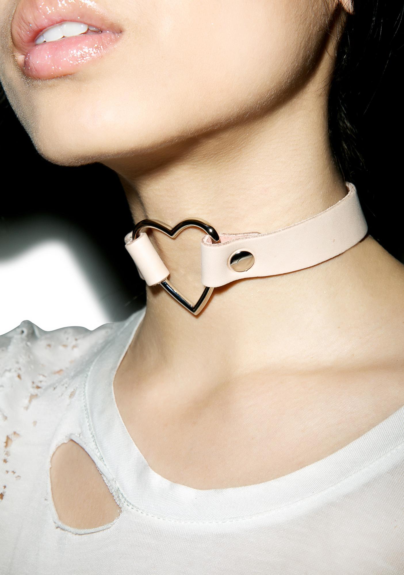 Club Exx Hermosa Heart O-Ring Choker