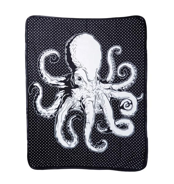 Sourpuss Clothing Octopus Throw Blanket