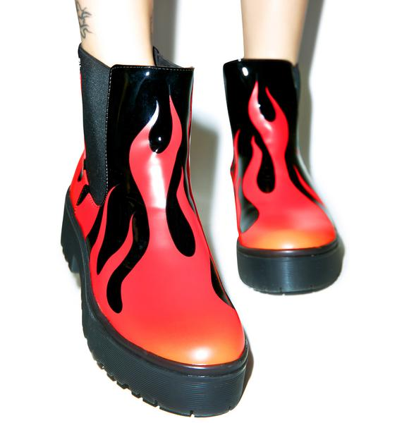 Iron Fist Fire Sign Boots