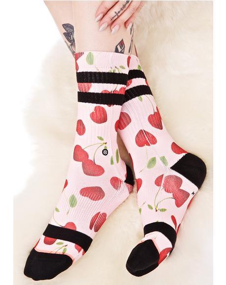 Cherry Bomb Crew Sock