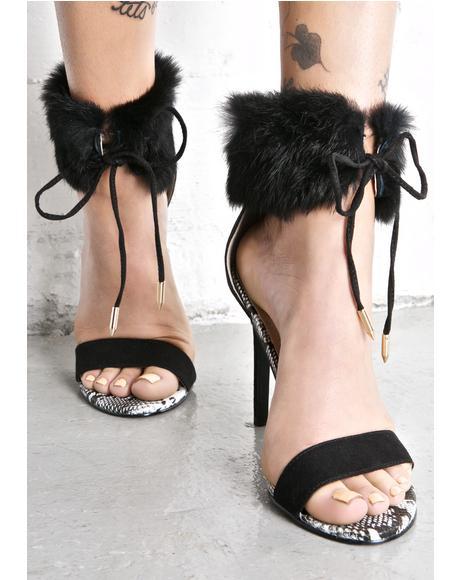 Sasha Night Fluffy Heels