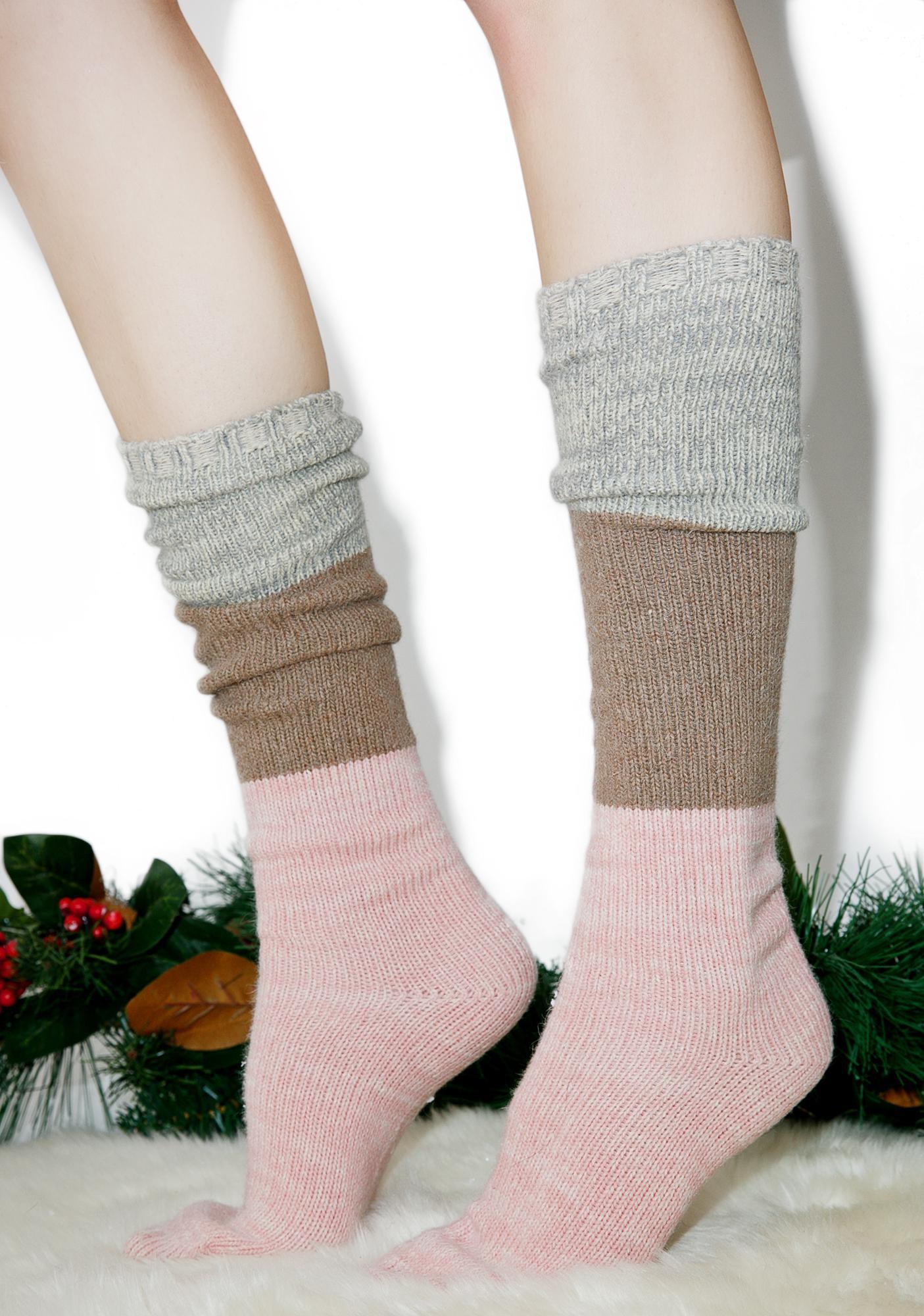 Neapolitan Knee High Socks