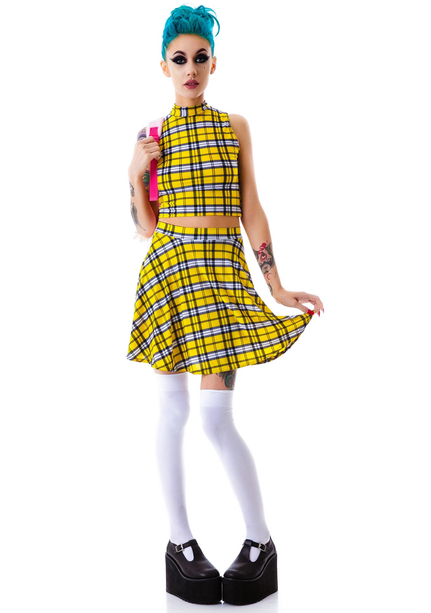 Clueless Collared Crop Top