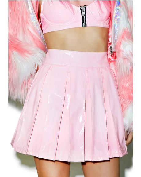 X Dolls Kill Princess Pastel Vinyl Skirt