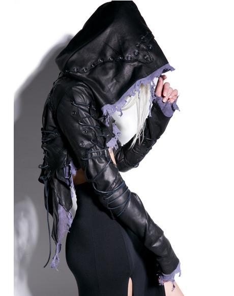 Fugitive Cropped Leather Jacket