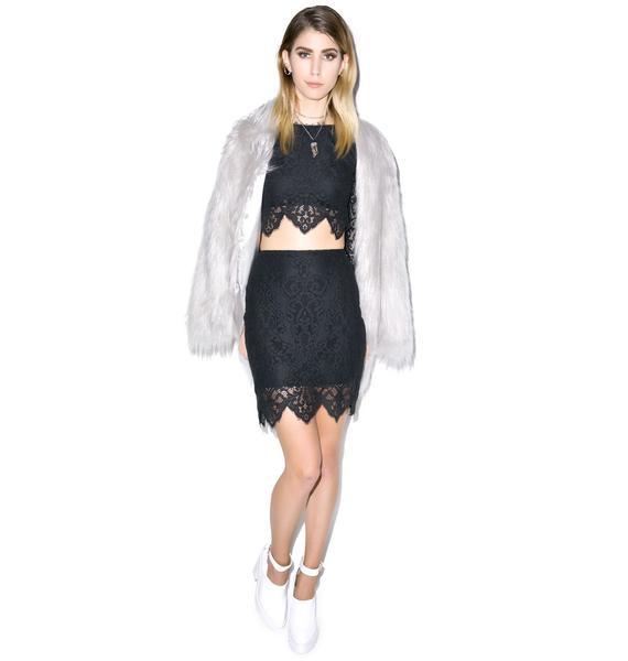 For Love & Lemons Midnight Mini Skirt