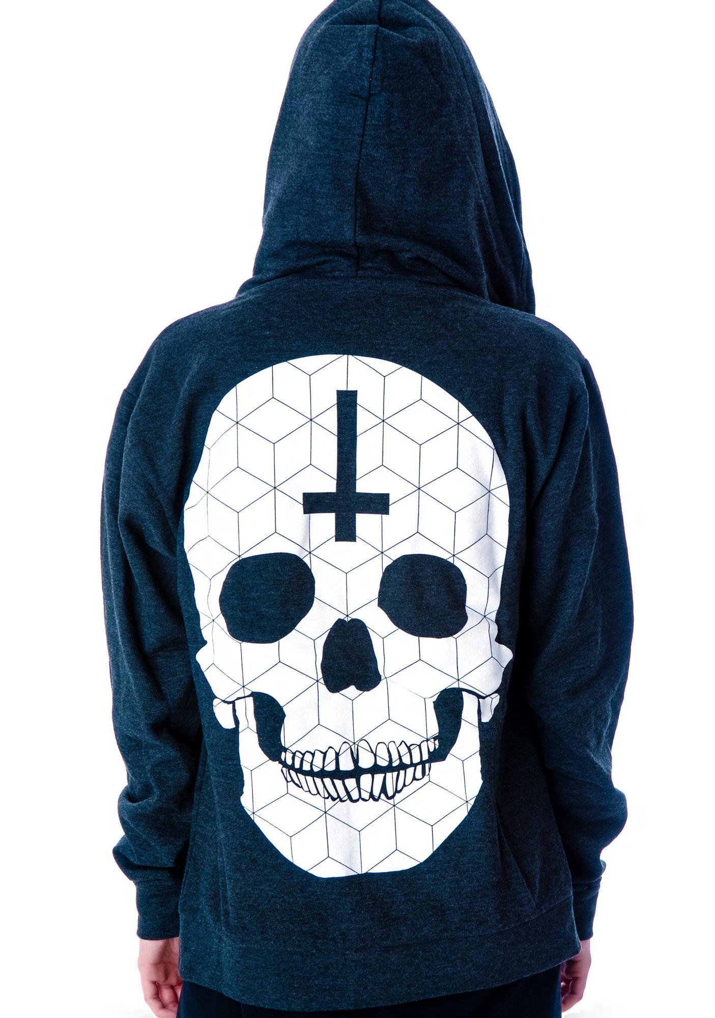 Zip up skeleton hoodie