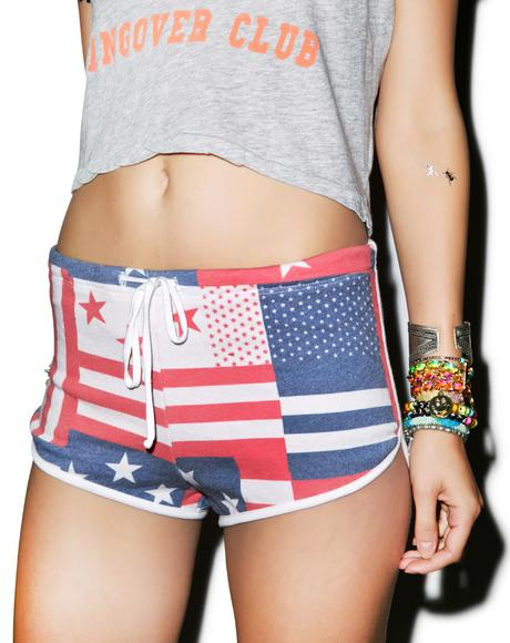 US Flag Pool Party Shorts