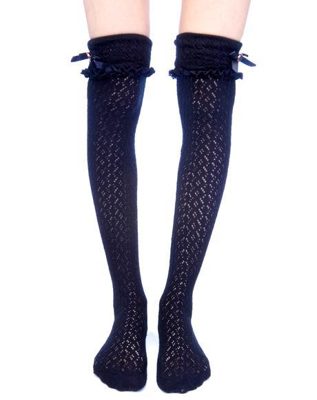 Ribbon Knee High Socks