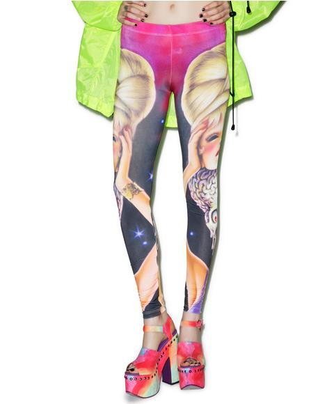 Mars Attacks Spy Girl Leggings