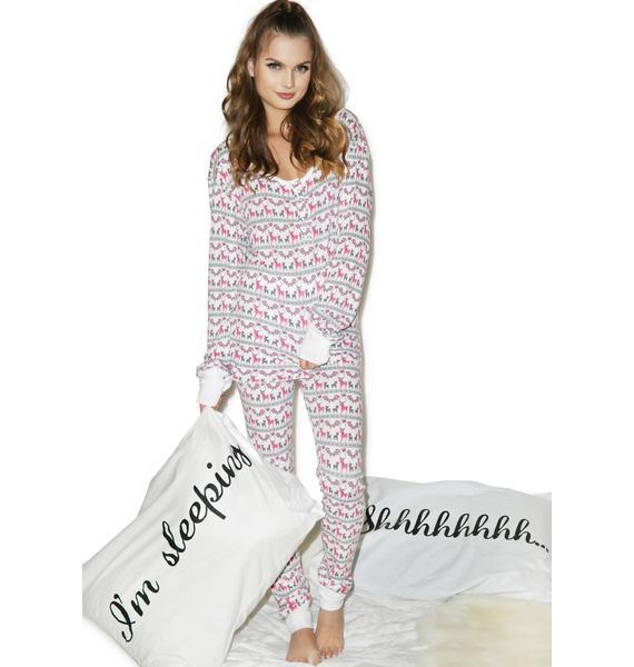 Wildfox Couture Reindeer Ski Bunny Set