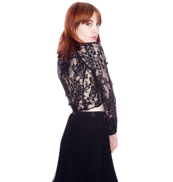 Hold Me Long Sleeve Lace Shirt