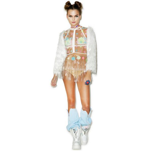 Indyanna PVC Britney Crop Halter Top