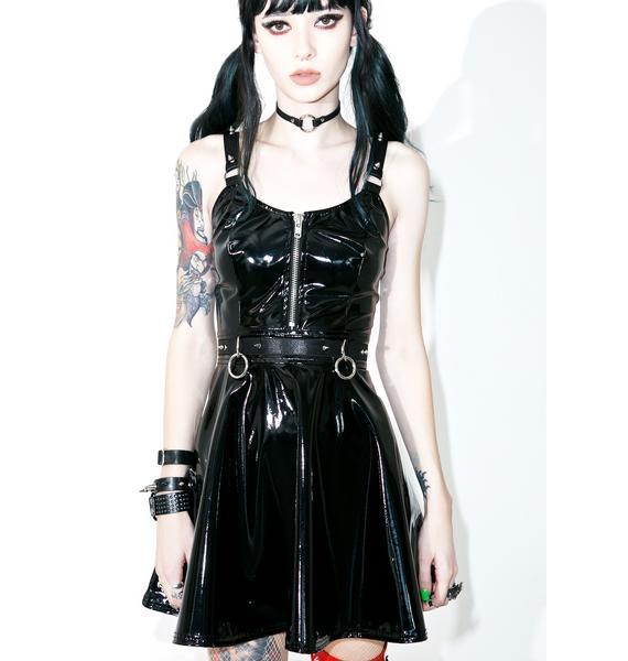 Current Mood Darby PVC Skater Dress