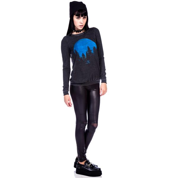Chaser Blue Moon Cross Back Pullover Sweatshirt
