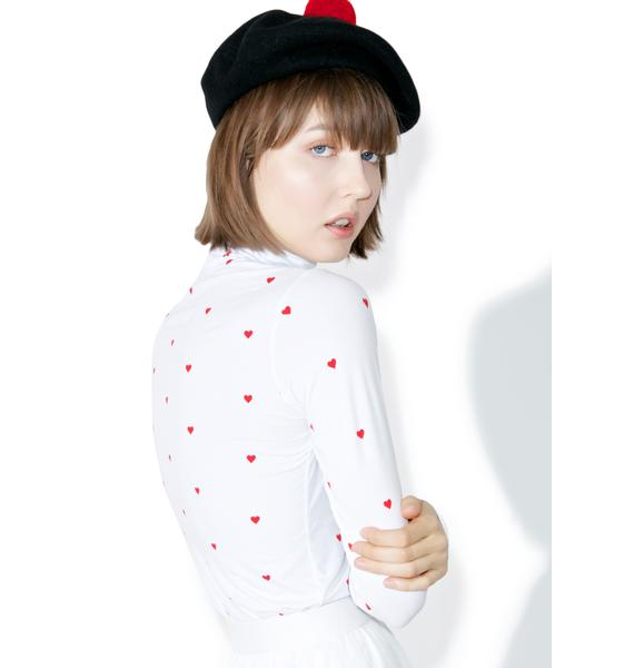 Lazy Oaf Tiny Hearts Turtleneck