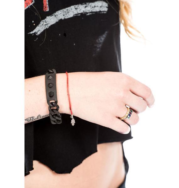 Luv AJ Pyramid Stud ID Bracelet