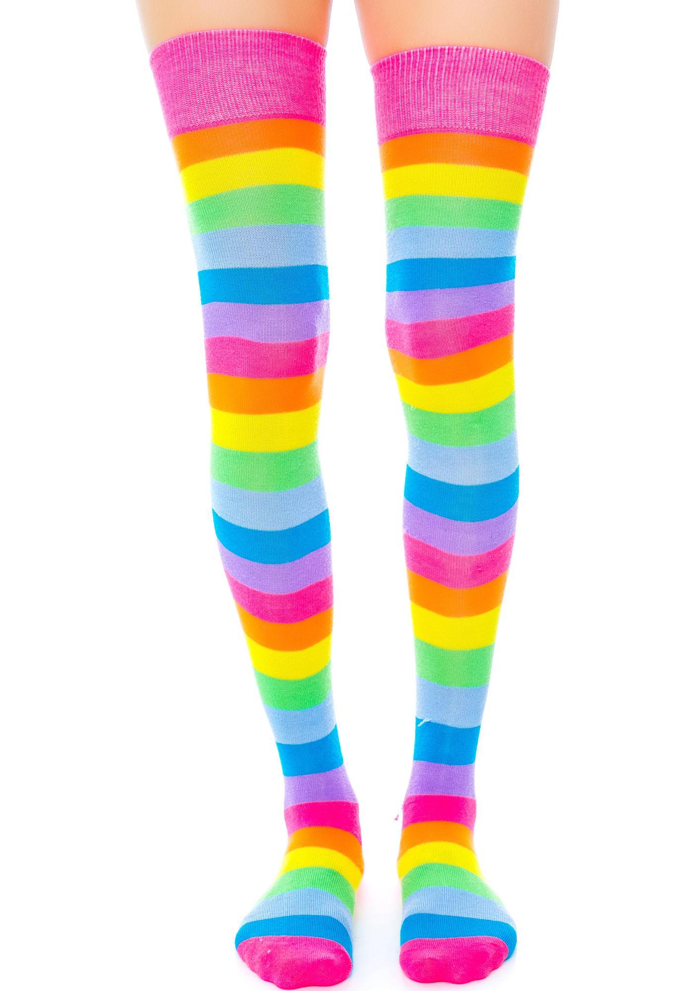 Starlite Rainbow Thigh Highs