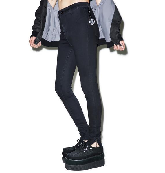 BOY London Boy High Waist Skinny Jeans