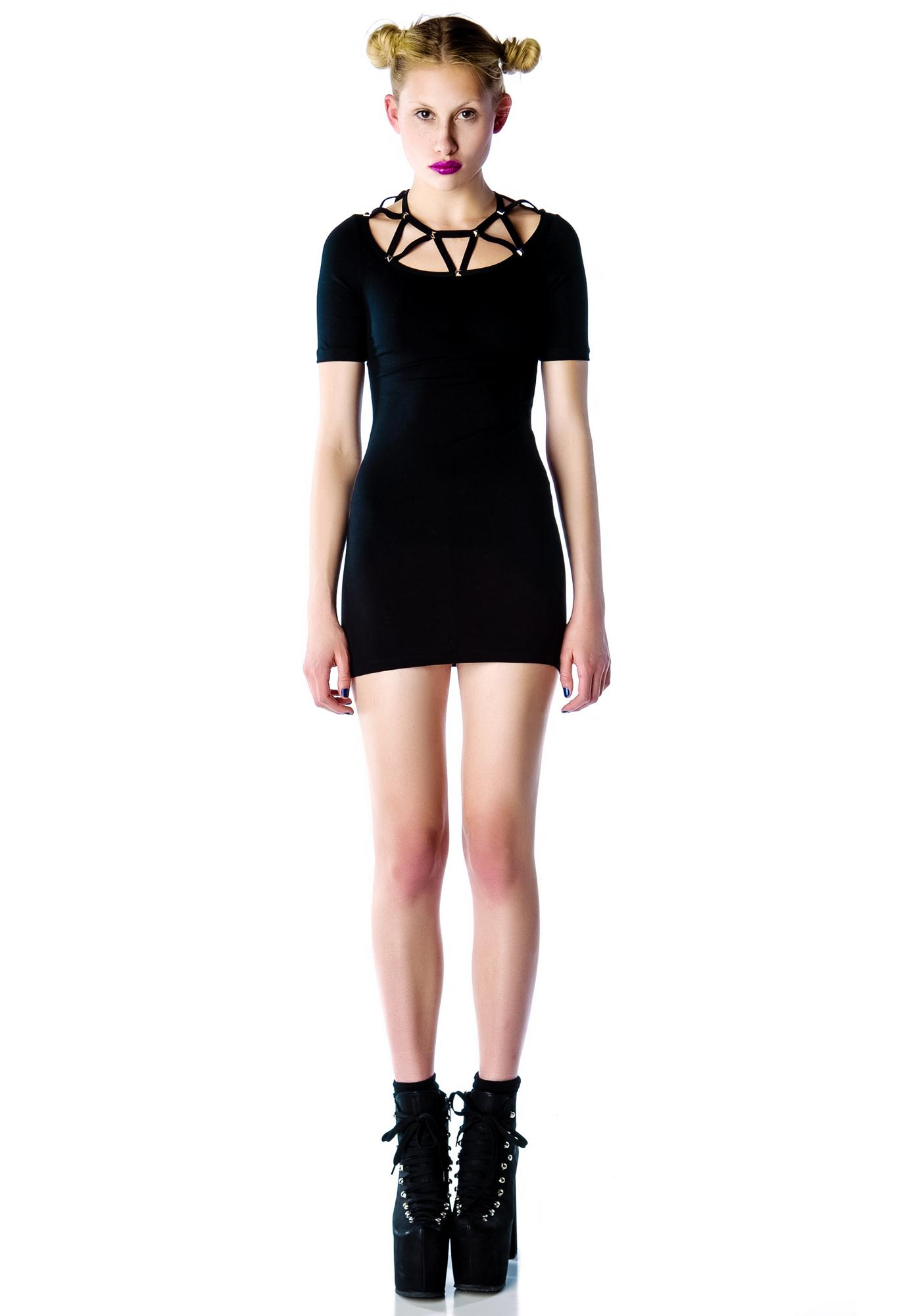 Lip Service Mini Bodycon Studded Dress