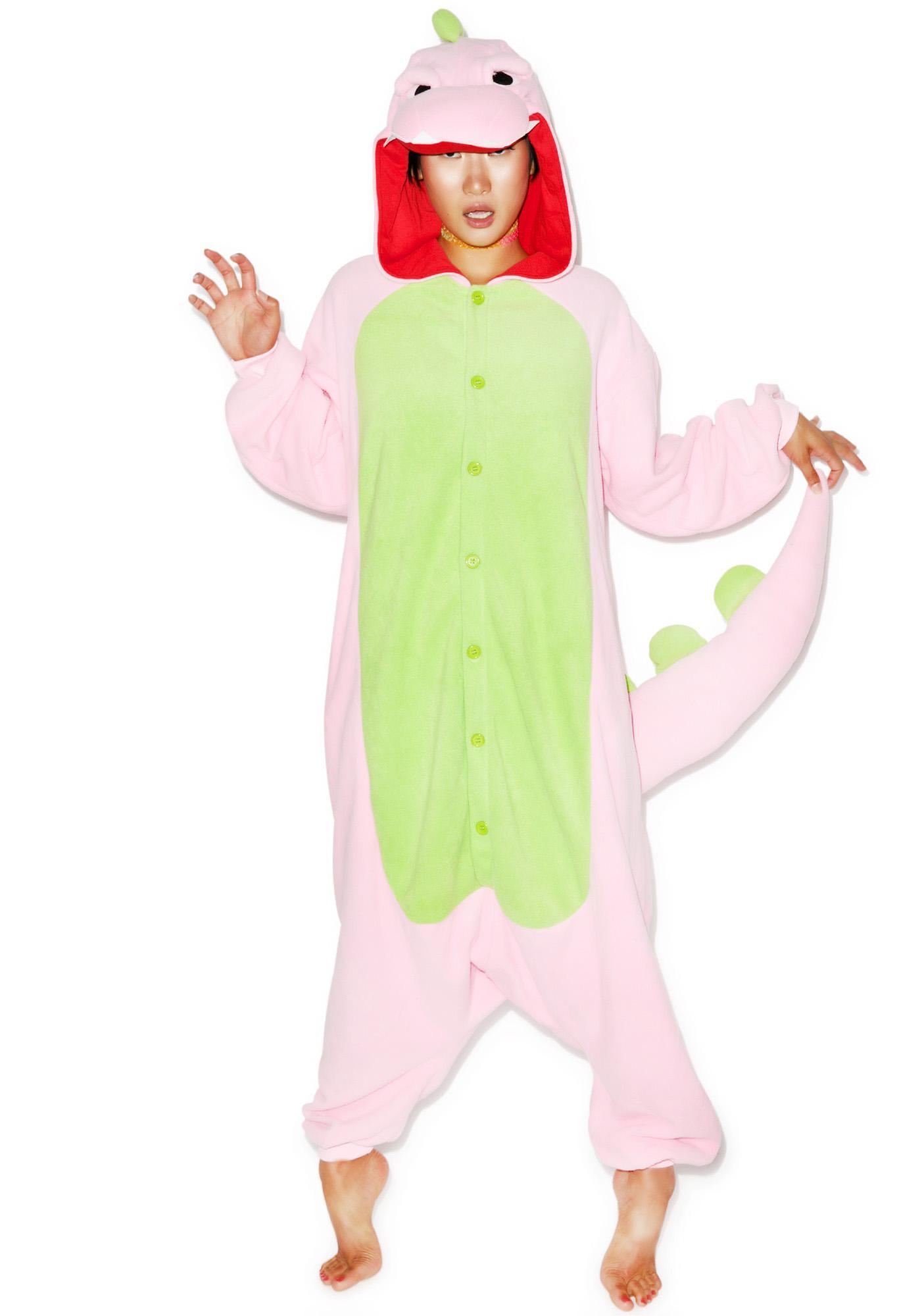 Sazac Pink Dinosaur Kigurumi
