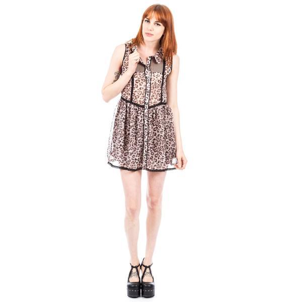 No Sleeve Leopard Dress