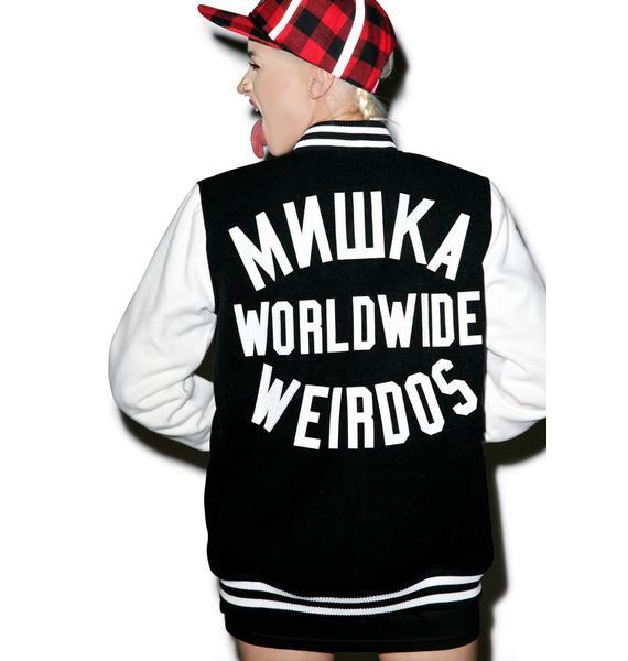Mishka Keep Watch Worldwide Varsity Jacket