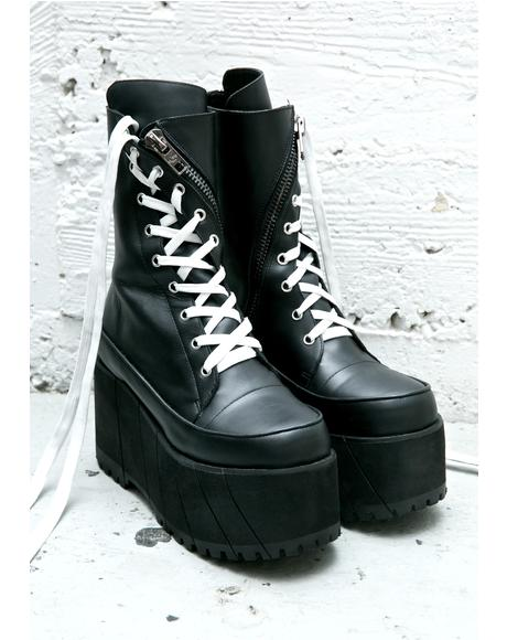 Leather Twister Boots