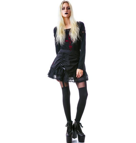 All Hallows Eve Lace Miniskirt