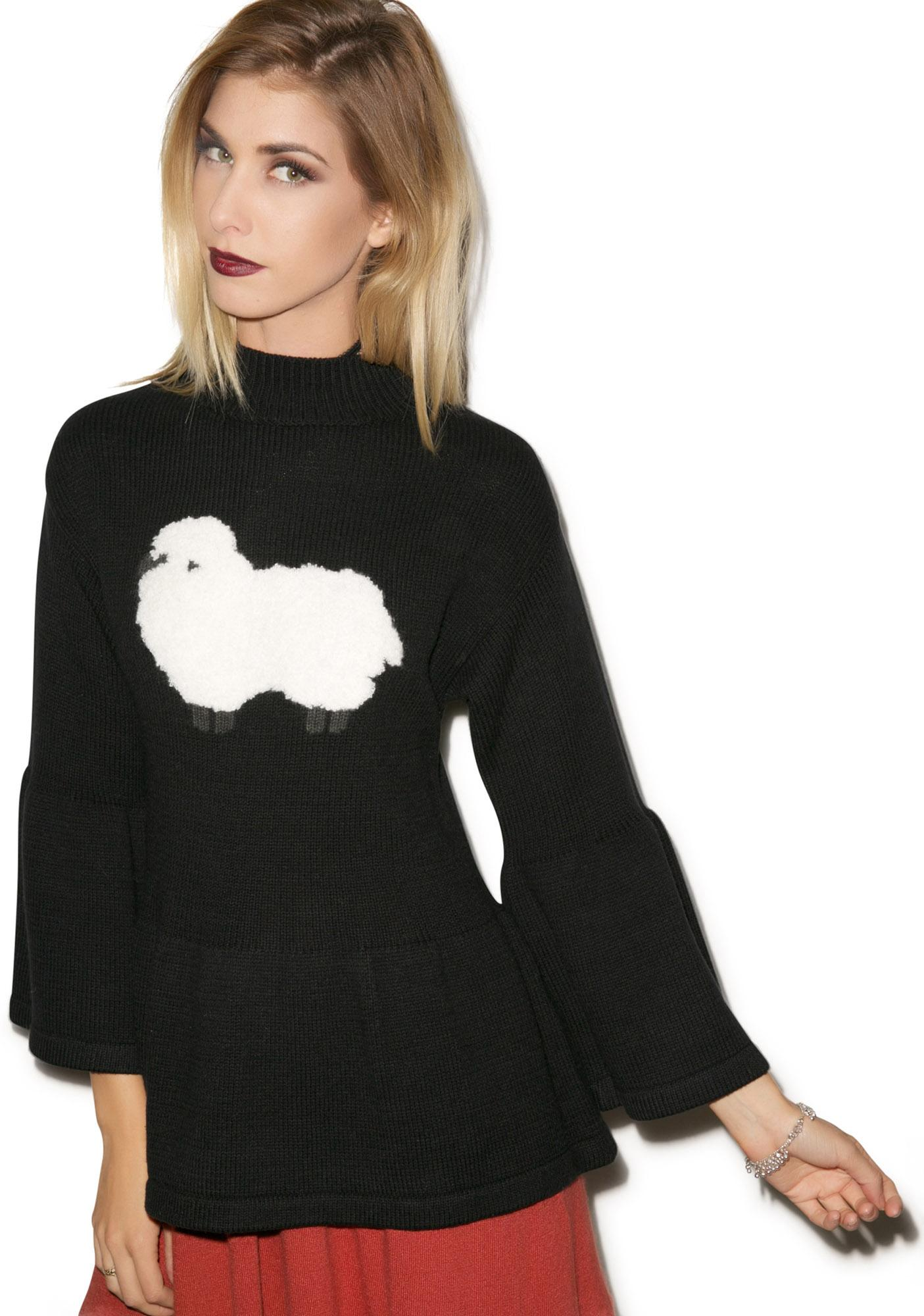 Wildfox Couture Counting Sheep Gusset Sweater