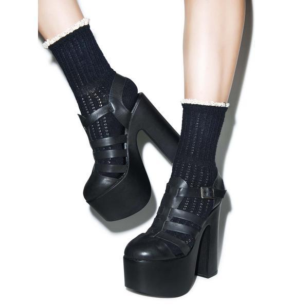 Lavish Lace Crew Socks