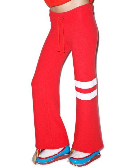 Sporty Stripe Baggy Beach Pants