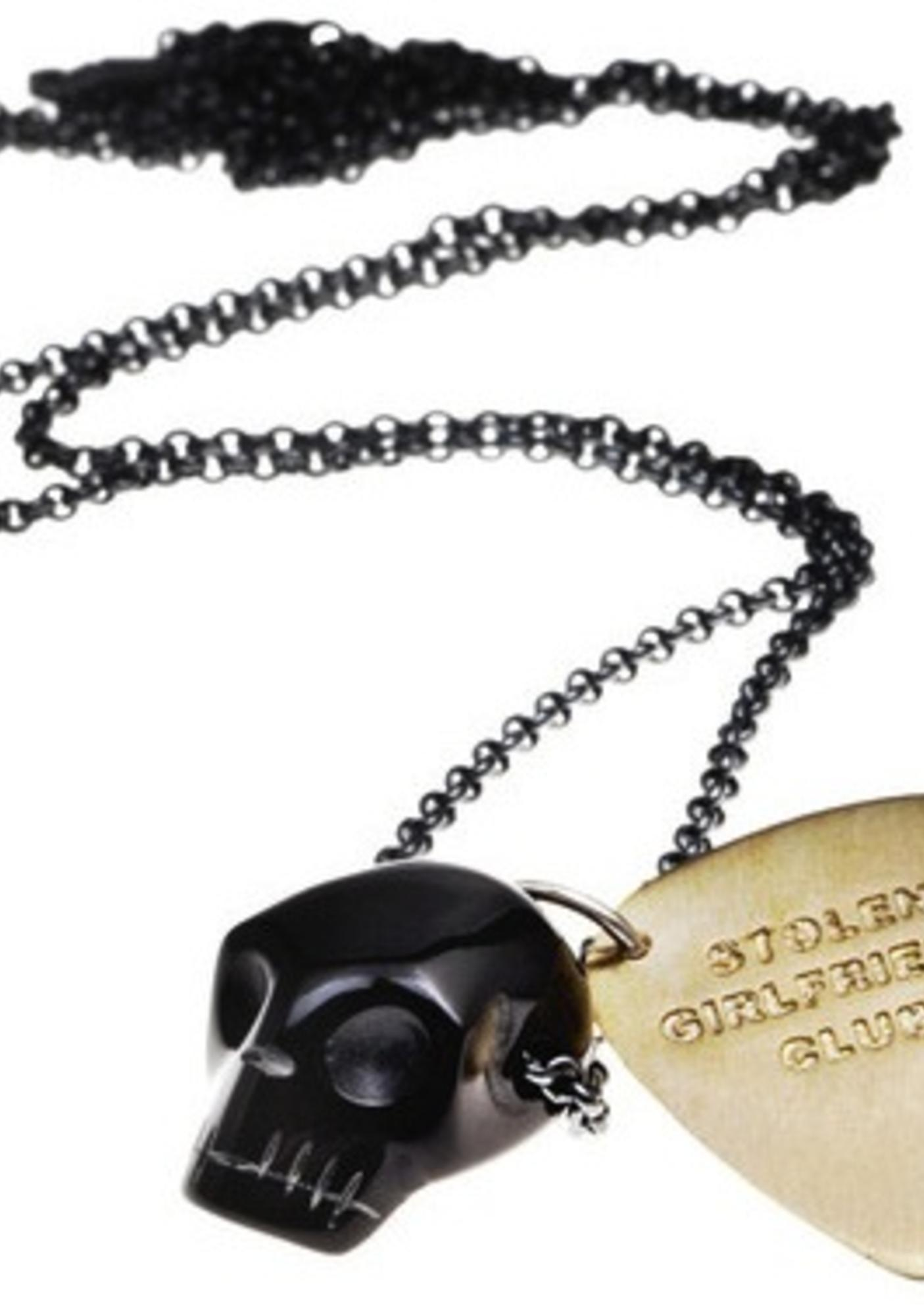 Stolen Girlfriends Club Black Skull Pendant