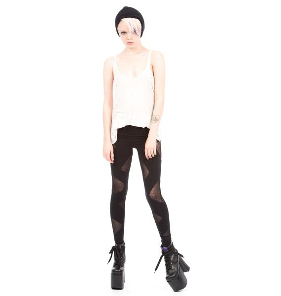 HLZBLZ X Belle Of The Brawl Siouxsie Mesh Triangle Cut Out Leggings
