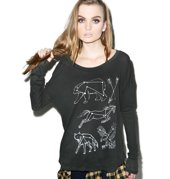 Wildfox Couture Constellations Runaway Long Sleeve Tee