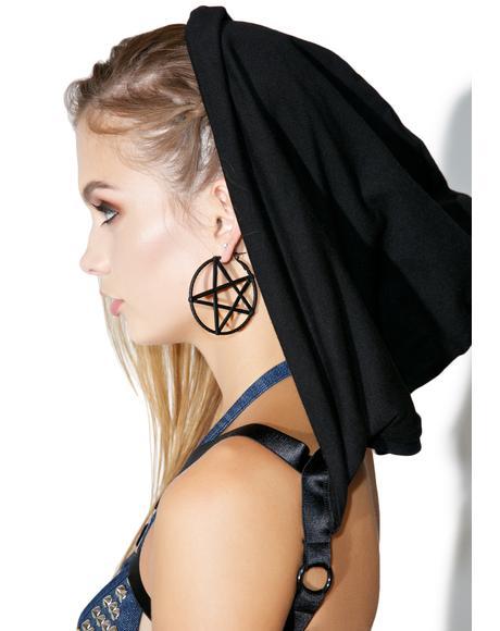 Harness Pentagram Earrings