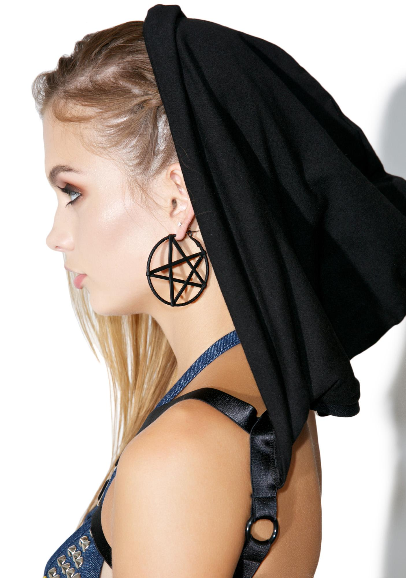 Harness Pentagram Earrings