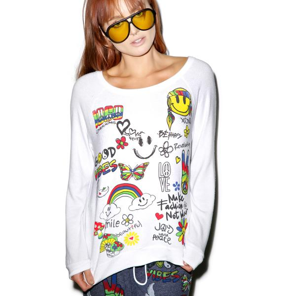 Lauren Moshi Good Vibes Sweatshirt