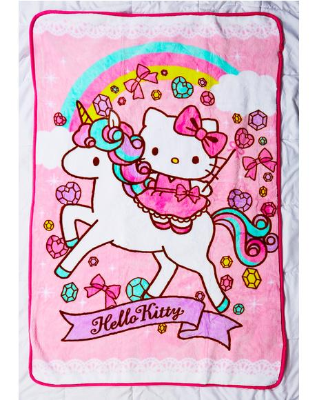 Unicorn Kitty Blanket
