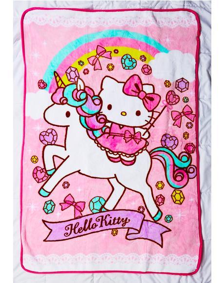 Unicorn Kitty Blanket