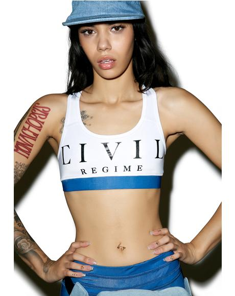 Civil Regime Block Sports Bra
